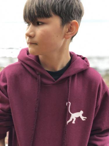 Cool hoodie MonkeyDonkey Vinröd